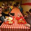 Polish Food Festival at Holy Trinity Polish Church. Cynthia Arsenault of Haverhill, left, and Pat Jennings of Andover, right. (SUN/Julia Malakie)