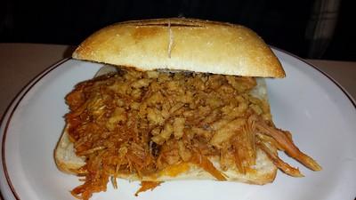 Pulled Pork & Onion Sandwich