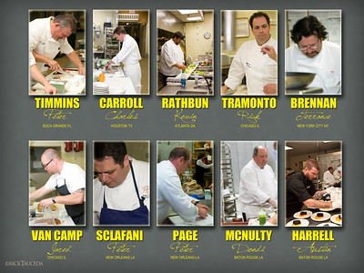 Contributing chefs to the Annual Dining by Design Banquet
