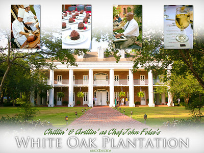 Chef John Folse's White Oak Plantation held a Chillin & Grillin fundraiser in Baton Rouge LA.
