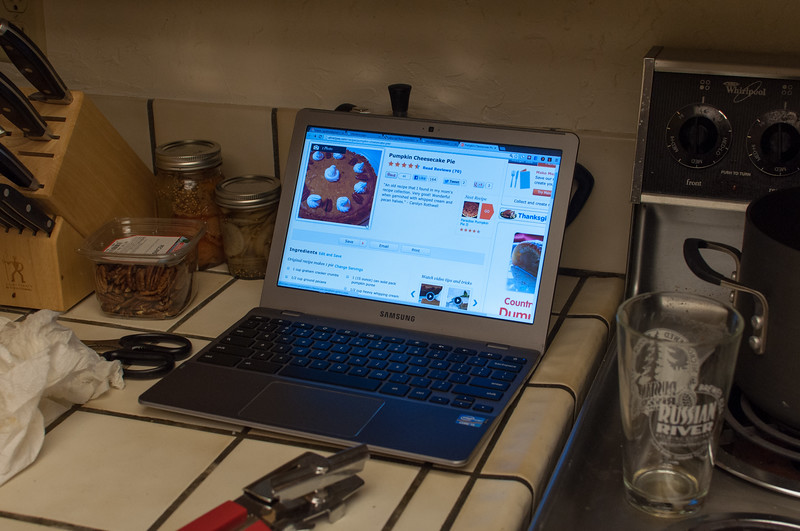 Chromebooks are great in the kitchen.
