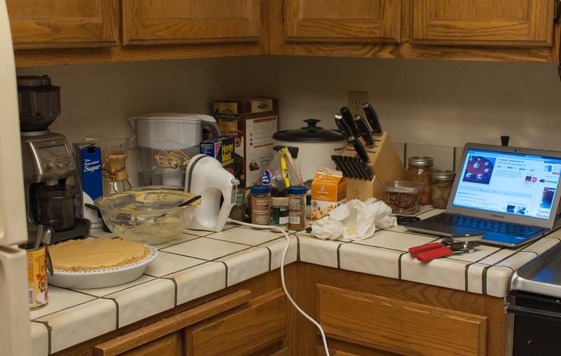 The kitchen setup.