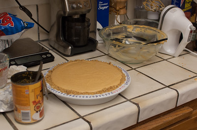 The pie ready to be put in the oven.