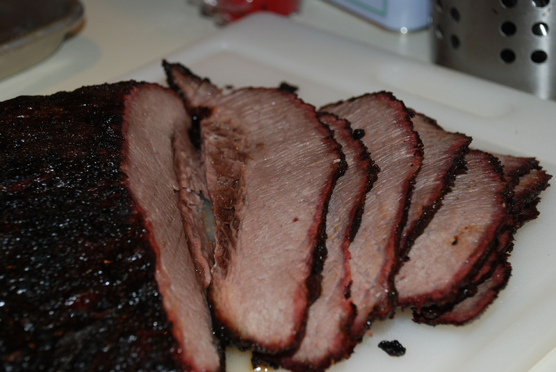 Sliced brisket (in honor of the Packers)