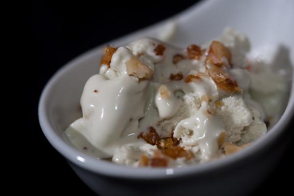 Vanilla Ice Cream with Caramelized Pecans