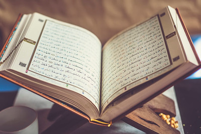 Quran - holy book on book stand