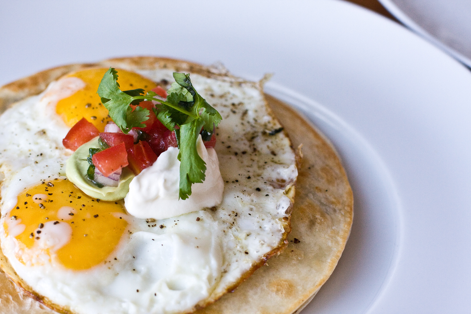 Huevos rancheros is a popular food in Mexico for breakfast.
