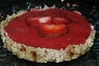 Strawberry tart.  Only four ingredients: strawberries, dates, dates and a little agave.