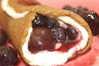 Blueberry and cherry crepe.  It's made with ginger cream and the crepe itself is made from bananas and flax meal.  Love this.