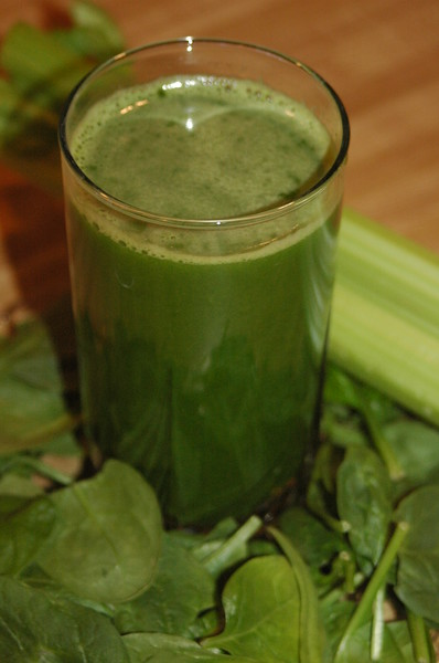 Green juice!  I think this one had spinach, celery, apple and lemon.