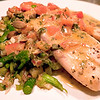 Tilapia with broccolini hash and spicy pumpkin seeds