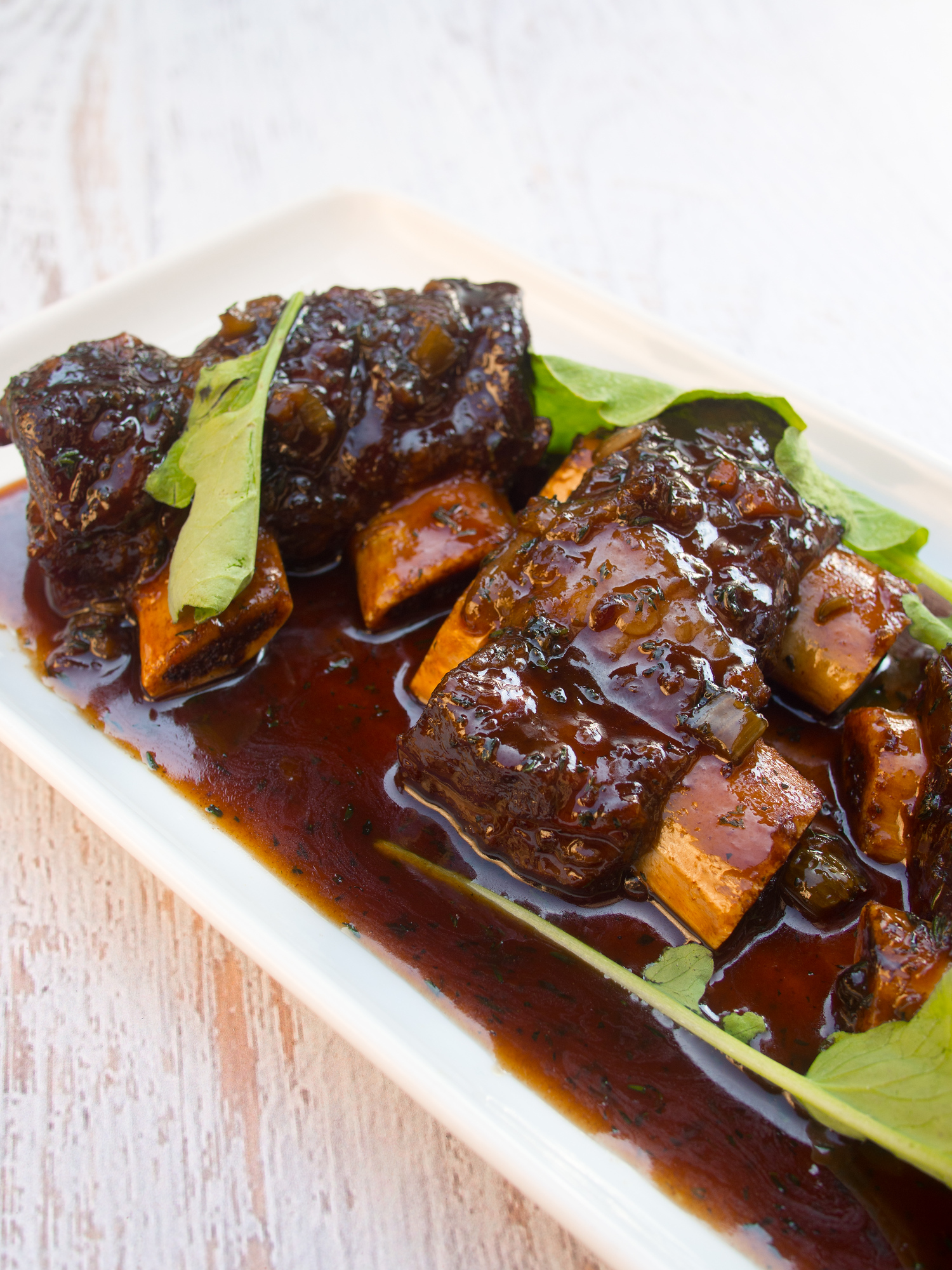 A chef shares his red wine braised short ribs recipe that he makes at home on his day off.