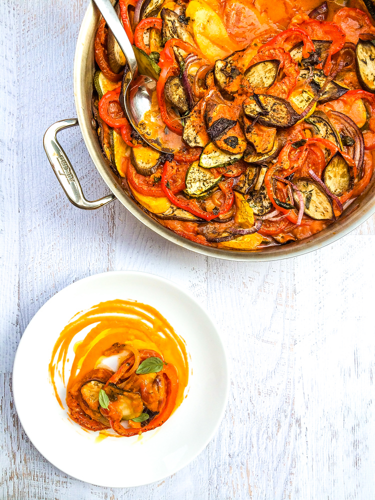 So so easy to make>> A classic French dish, this easy ratatouille recipe is perfect with summer vegetables but also comforting in winter.