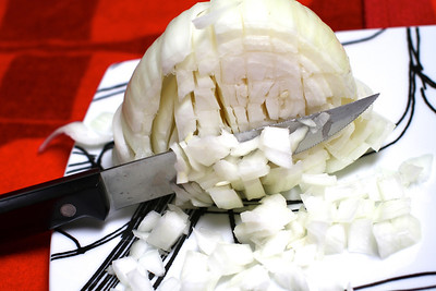 ONE LARGE WHITE ONION DICED WAS SAUTED UNTIL  CLEAR