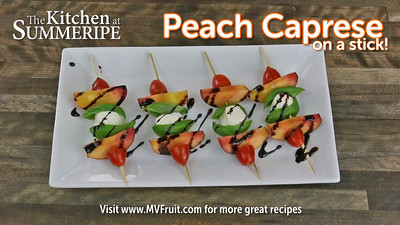Summeripe Peach Caprese
