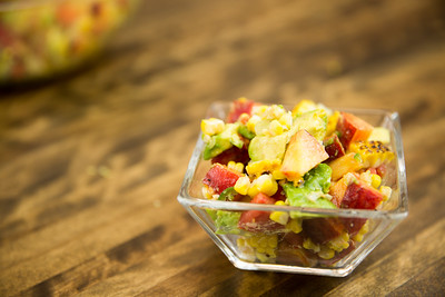 Summeripe Grilled Corn & Peach Salad
