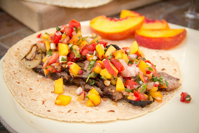 "Summeripe ""Urban Street"" Tacos with Peach Salsa"