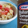 Looking for a quick dish to take to that summer party? <br />  1 lb bowtie pasta, cooked<br />  2 medium tomatoes, chopped<br />  2 cups shredded monterey jack cheese<br />  Mix all ingredients and toss with balsamic with tomato & basil vinaigrette.