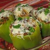 Stuffed Peppers<br />  4/5 stars for the kids. Adults loved this.<br />  Ingredients<br />  1 cup cooked white rice<br />  6 green bell peppers<br />  1 onion, chopped<br />  4 tablespoons olive oil<br />  2lbs ground beef<br />  1/2 cup chopped fresh parsley<br />  2 cups tomato sauce<br />  1 cup shredded mozzarella cheese<br />  salt to taste<br />  ground black pepper to taste<br />  Directions:<br />  Brown ground beef until done, drain grease. <br />  Sautee chopped onion in olive oil.<br />  Add all ingredients to the ground beef, reserving 1/2 cup mozzarella. Mix well. Fill each pepper to the top.<br />  Place in oven safe pan and cook at 400 for 30-40 minutes or until peppers are tender. Top with remaining cheese and serve.