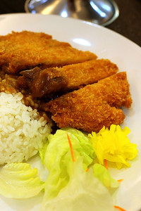 Fried Salmon Curry - Liang Court - Singapore