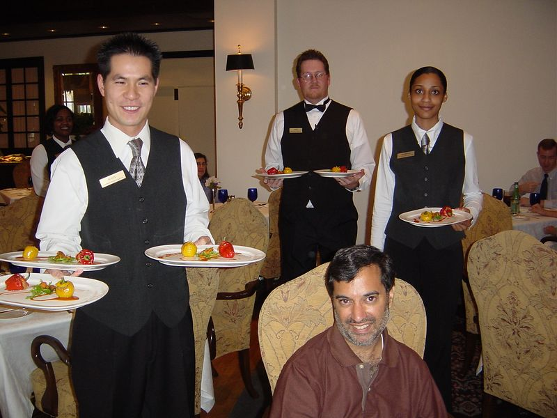 How can you not smile when surrounded by such good food given with such service?!