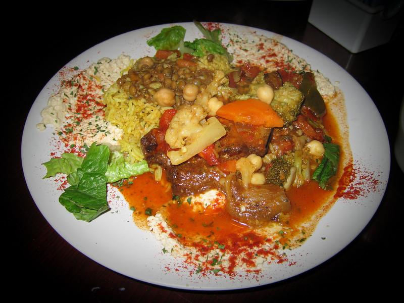 20090308 Moroccan Eggplant, Nagila Moroccan Restrnt - Wilmington NC