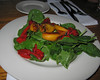 20090311 Grilled Peach Spinach Salad, Irregardless Restrnt - Raleigh NC