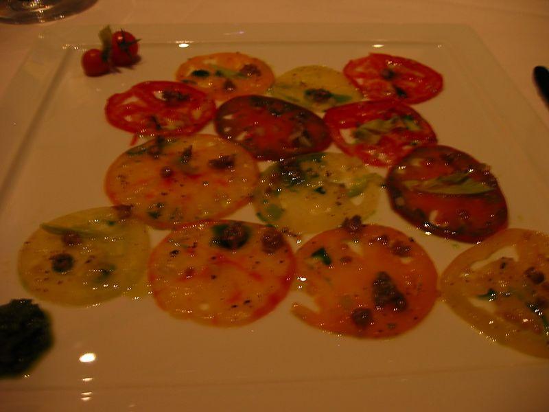 Heirloom tomato carpaccio