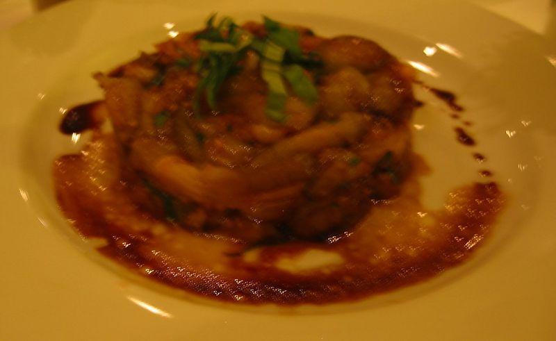 Eggplant appetizer [quite blurry]