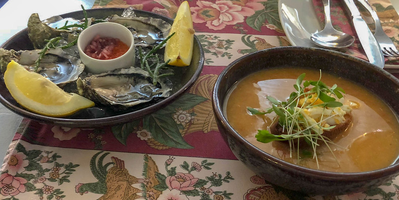 Oysters and Soup from Tapa Bento