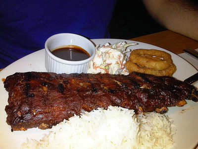 Ribs, served with Rice in Beefeater  21/11/12