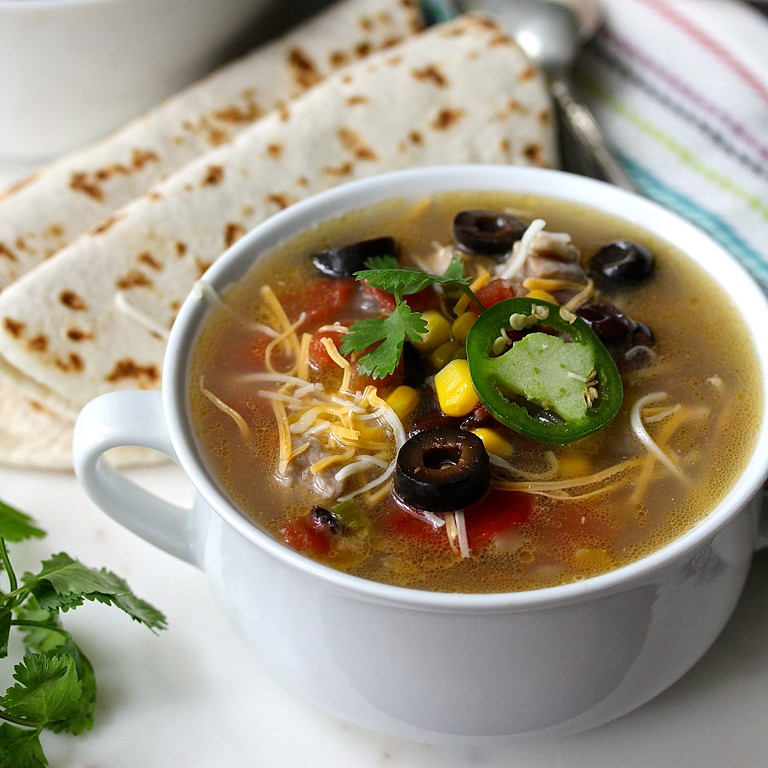Tex-Mex Chicken Soup from Karen's Kitchen Stories