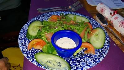 Mini smoked salmon salad