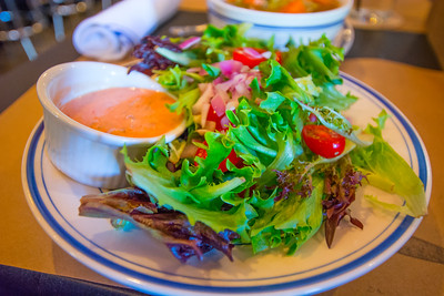 Garden Salad with Thousand Island Dressing