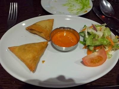 "Vegetable Samosa's. Served in ""Gurkha 3"" in Taunton  08/04/15"