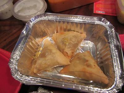 "Vegetable Samosa - served in ""Gurkha Inn"" in Torquay  30/12/14"