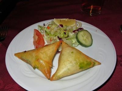 "Vegetable Samosa. Served in ""Himalaya"" in Torquay  16/01/15"
