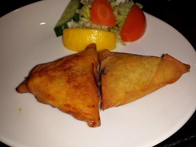 "Vegetable Samosa - served in ""Gurkha"" in Dawlish  10/03/15"
