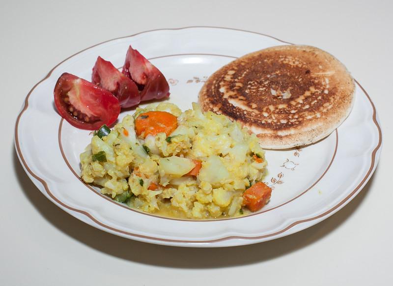 00aFavorite 20140829 Cauliflower Stew, Vegetable Uttapam (No Added Fat) (1957)