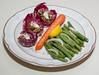 00aFavorite 20120606 Seitan Saute with Vegan Yogurt in Radicchio, Citrusy Green Beans (2213)