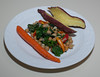 00aFavorite 20130617 Dandelion Greens w Kale and Chickpea, Japanese Sweet Potato (1919)