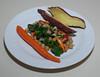 00aFavorite 20130617 Dandelion Greens w Kale and Chickpea, Japanese Sweet Potato (1919)