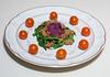 00aFavorite 20160722 (1928) Seitan - Arugula - Baby Spinach w Blueberry Vinaigrette (No Added Fat)