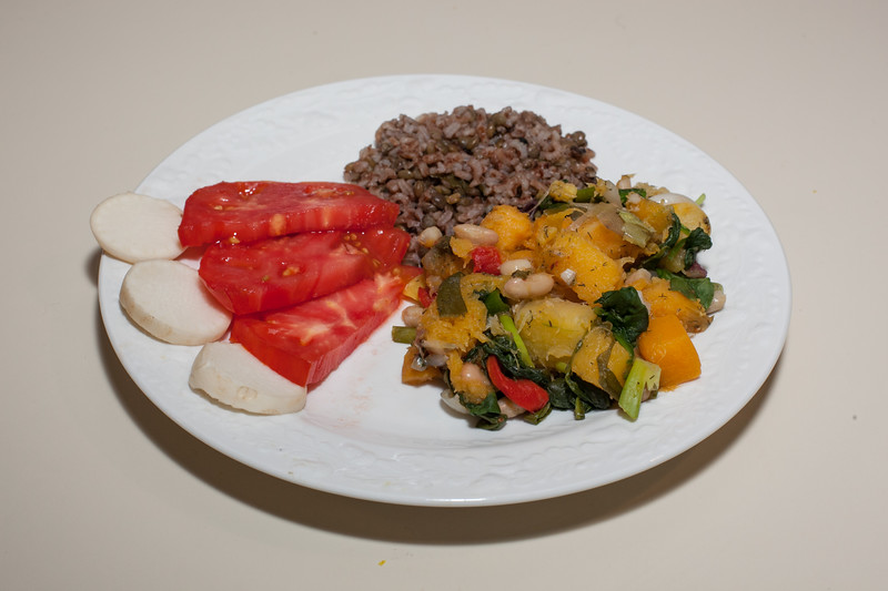 00aFavorite 20130521 Butternut Squash-Canelllini Bean-Spinach Saute (No Added Fat) (2207)