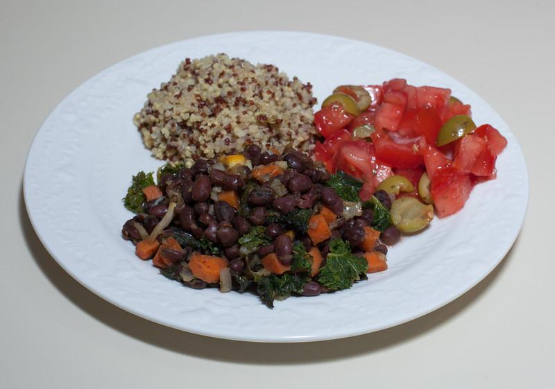 00aFavorite 20160321 Adzuki Beans w Meyer Lemon, Tomato and Olive Salad, Quinoas-Millet-Buckwheat (No Added Fat) (1904)