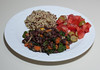 00aFavorite 20160321 Adzuki Beans w Meyer Lemon, Tomato and Olive Salad, Quinoas-Millet-Buckwheat (No Added Fat) (1904)