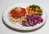 00aFavorite 20150331 Red Lentil Rotini w Heirloom Tomato Sauce, Cabbage Salad, Pressure-Cooked Vegs (No Added Fat, Gluten Free) (No Added Fat) (1907)