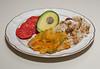 00aFavorite 20110815 Butternut Squash w bell pepper and onion, Ramen noodles w chickpea salad