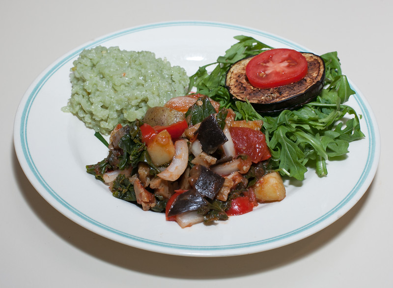 00aFavorite 20141229 Eggplant and Potato, Grilled Jerk Eggplant, Jade Pearl Rice (No Added Fat) (2103)