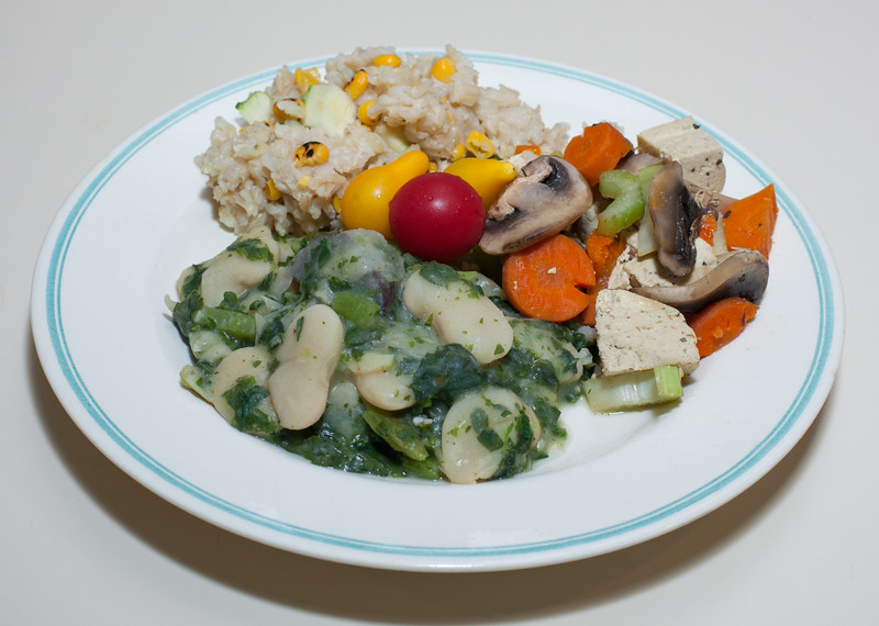 00aFavorite 20150814 Giant Peruvian Lima Bean w Purple Potato, Brown Jasmine Rice w Rstd Corn and Zucchini, Tofu w Veg (No Added Fat, Gluten Free) (2225)